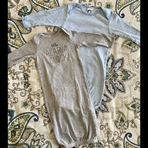Newborn (0-3 and 0-6 Months) Baby Gown Bundle
